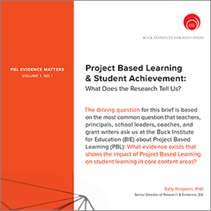 project based learning student achievement